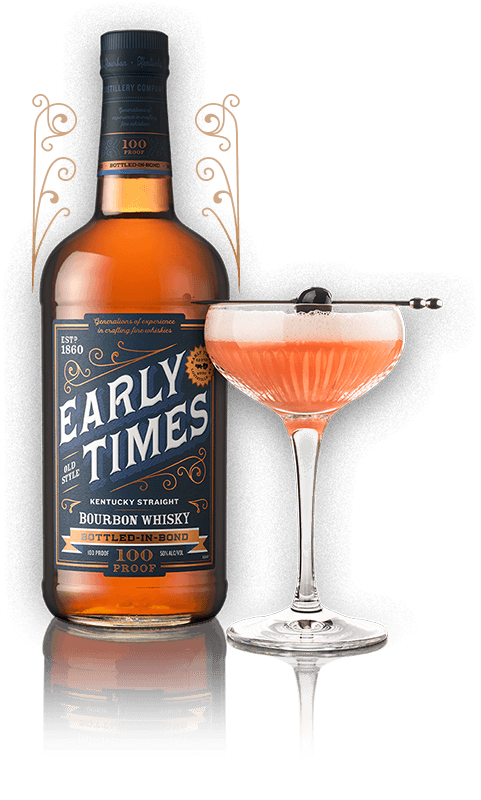 Early Times Bottled-in-Bond bottle and cocktail